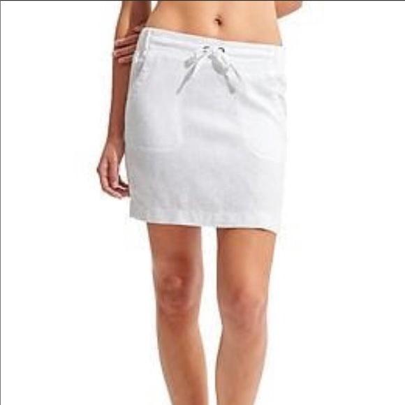Athleta white linen skirt size 14